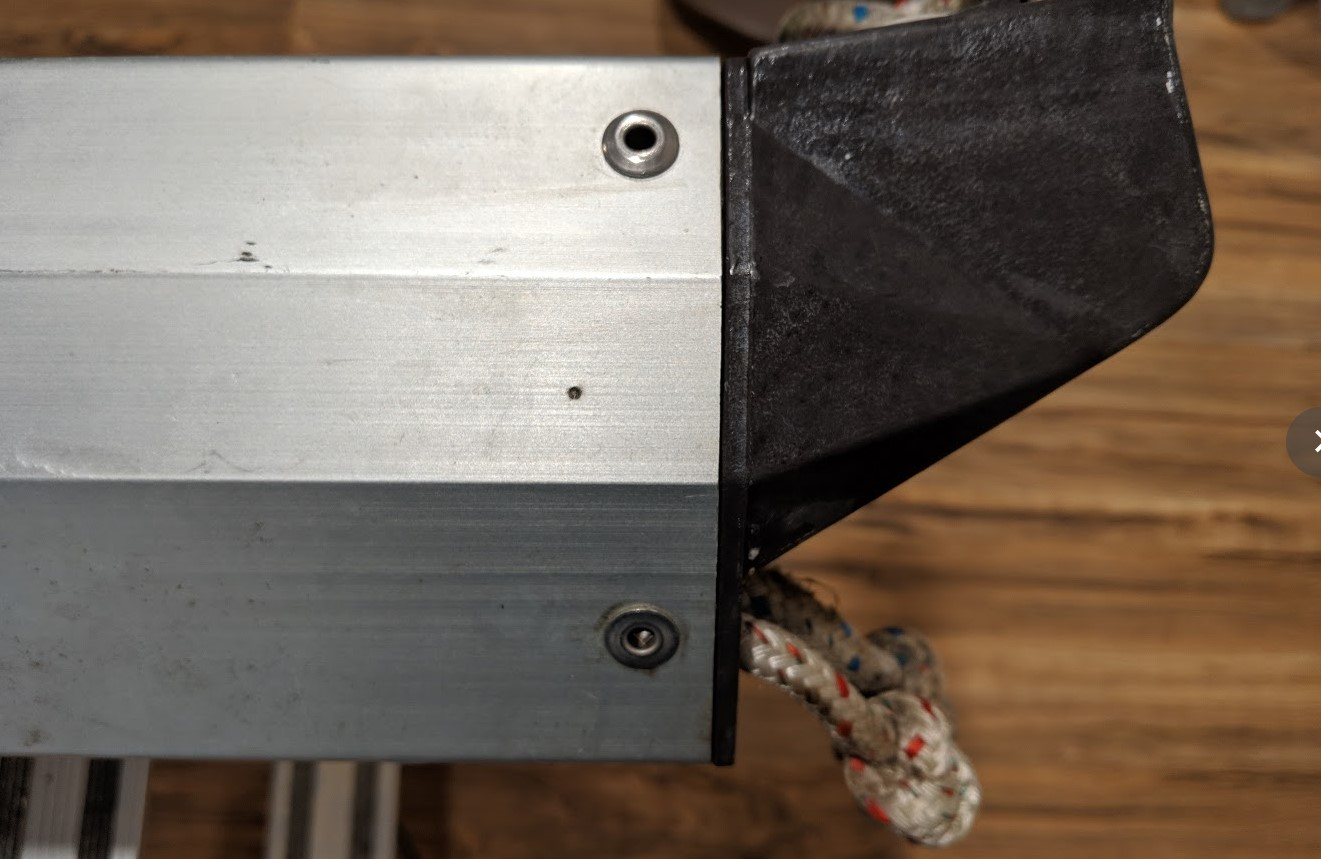 Isomat Boom Maintenance – taking it apart – Foghorn Lullaby
