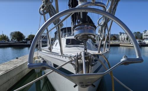 mantis anchor on sailboat