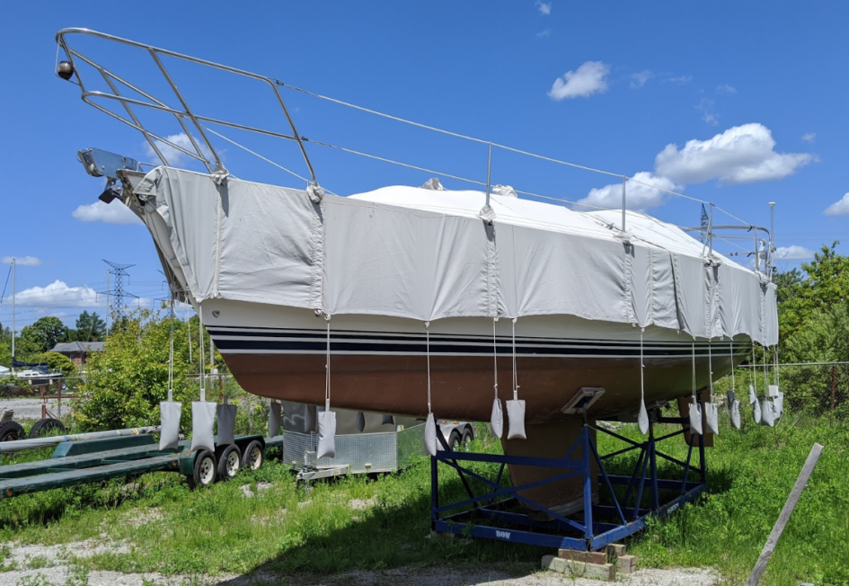 cs34 sailboat winter cover