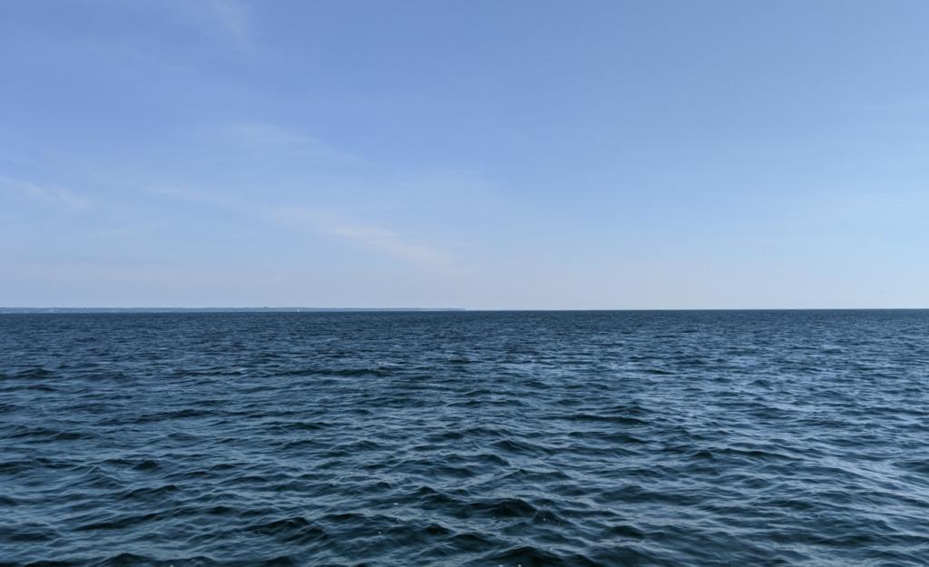 open Lake Ontario water on way to Kerr Bay