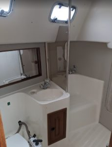 sailboat bathroom and shower