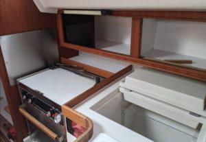 Sailboat Galley with Propane Stove
