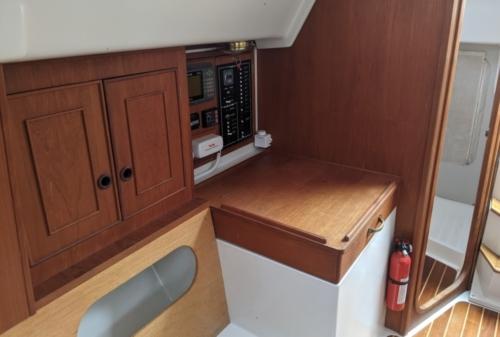 Sailboat nav table