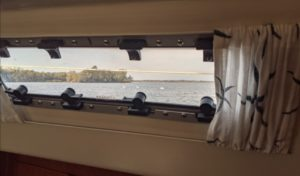 lewmar portlight on sailboat