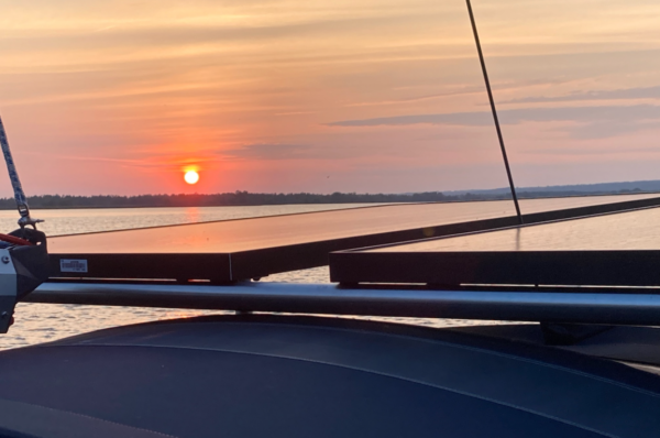 Sailboat Solar Panels Sunset