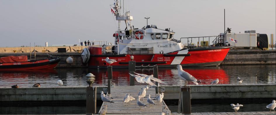 Coast Guard Boat at Dock
