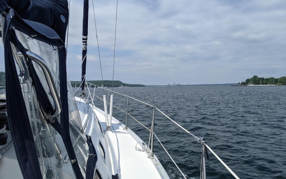 motoring toward glenora ferry